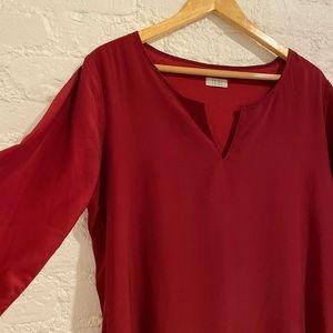 Red Dress - Long sleeve Sheath - Tobi